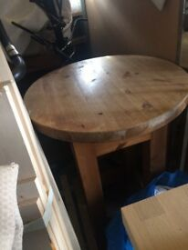 Tall solid chunky pine table