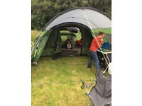 Outwell palm coast 600 tent plus footprint large canopy extension and fitted carpet