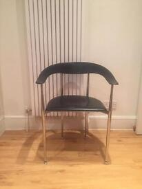 ARPER Leather chair - black