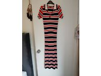 Tommy Hilfiger striped tennis midi dress size small (UK6/8)