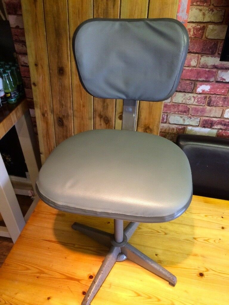 EVERTAUT INDUSTRIAL SWIVEL CHAIR 1950'S - CAN DELIVER..........