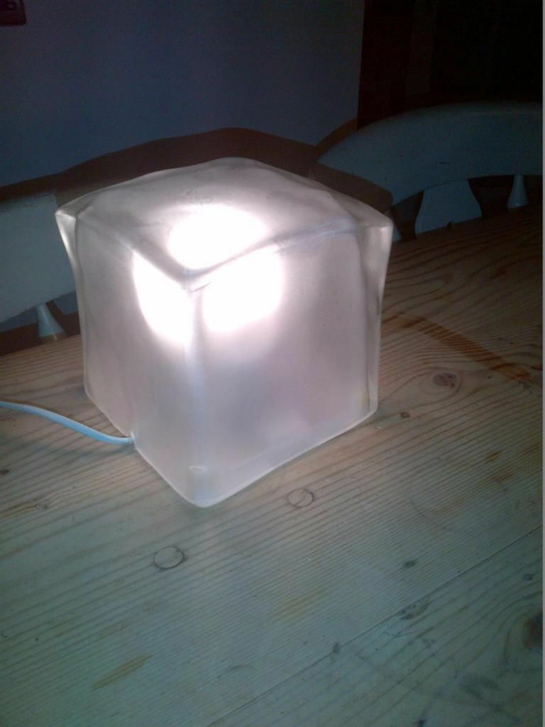 quirky ice cube glass bedside table lamp light