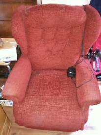 Red electric recling chair