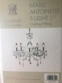 Beautiful chandelier brand new in box absolutely stunning collection conisbrough