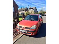 Renault Clio 1.2 Orange 54reg 76K Miles Small Car Cheap Bargain
