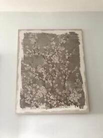 Large cherry blossom canvas print