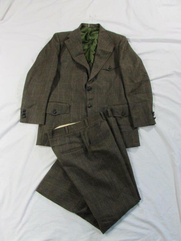 Vtg 60s 2 Pc Ropers Mod Suit Jacket & Pants Hollywood VLV Nice Shape!