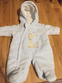 Newborn / First Size Snowsuit in Blue