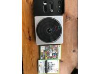 XBOX 360 DJ Hero deck PLUS games SOLD