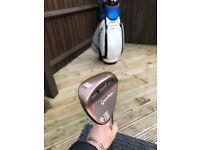 Taylormade Hi Toe 52/09 Wedge KBS Stiff-Flex Steel Shaft RH - Excellent Condition