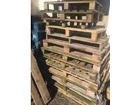 Large amount of wooden pallets mixture of standard and large