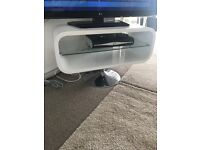 Modern white TV stand in excellent condition very different