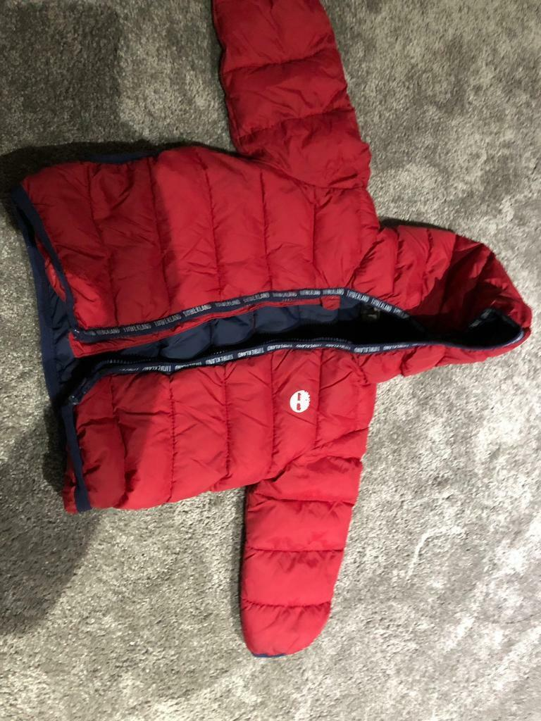 301bc784f9db Baby timberland coat red size 18 months