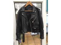 "Vintage Leather ""Brando"" Bikers Jacket"