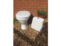 White 2 flush toilet for sale