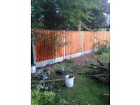 Close board fence panel