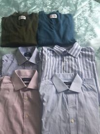 4 SMART BUSINESS SHIRTS AND 2 NEXT SWEATERS