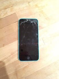 iPhone 5C for sale ASAP - Works completely fine, cracked screen