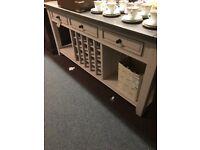 Large new sideboard wine rack