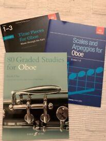 Oboe music books (x8) in near perfect condition