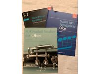 Oboe music books (x8) in near perfect condition