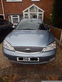 Ford Mondeo Ghia X 2.0L TDCI 56 Plate Light Blue 12 Months M.O.T