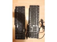 2x Dell USB keyboards model SK-8115 - used