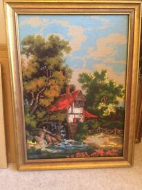 Constable Hand Sewn Large Tapestry With Good Frame