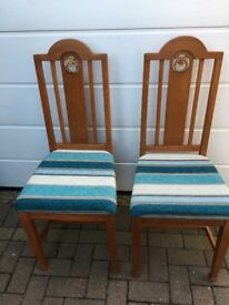 2 matching dining chairs