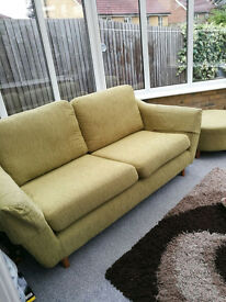 Sofa 3 seater with foot stool Very Good Condition from SOFASOFA