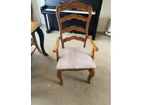 Solid wood ladder back chairs