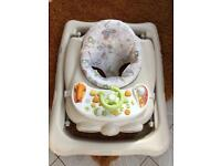 Baby walker with detachable tray & toys
