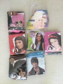 Selection of fancy dress wigs