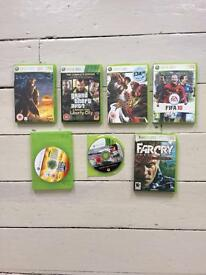 Xbox 360 and Nintendo games used