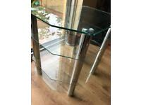4 Tier Chrome and Glass TV stand.