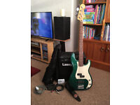 Squire Bass and Laney Amp + Accessories - Excellent Starter Kit