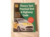 Never used AA Theory Test, Practical Test and Highway Code Book For Sale