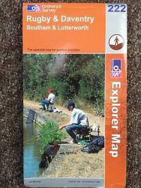 A range of Ordnance Survey Landranger & Explorer. The Lizard, Lands End, Rugby/Coventry, Aldeburgh