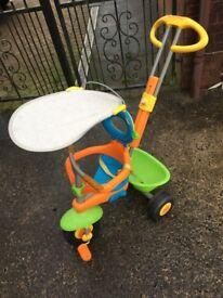 Smart trike 4 in 1 - yellow, orange, blue, green