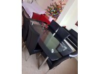 6 Person Glass Dining Table