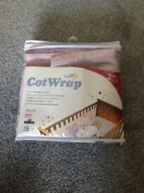 Safe dreams cot wrap 2 sided