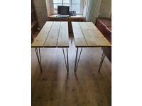 Two rustic desks for sale