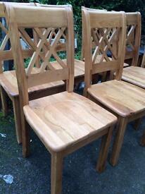 Solid oak chairs £80 each