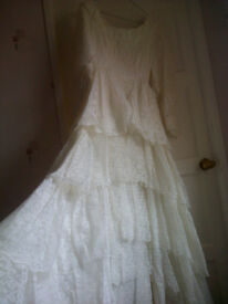 Vintage Wedding Dress size 10 approx - £350.