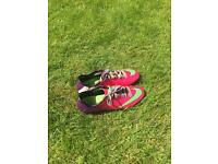 Nike Mercurial pink and purple football boots