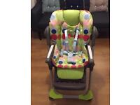 CHICCO HIGHCHAIR WITH TABLE GOOD CONDITION, extra removable padding