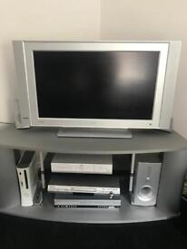"""32"""" TV, DVD, Dolby Digital 5.1 Surround system + stand"""