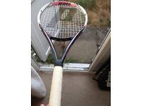 Prince Classic Lady Titainium Tennis Racket White/Pink L0