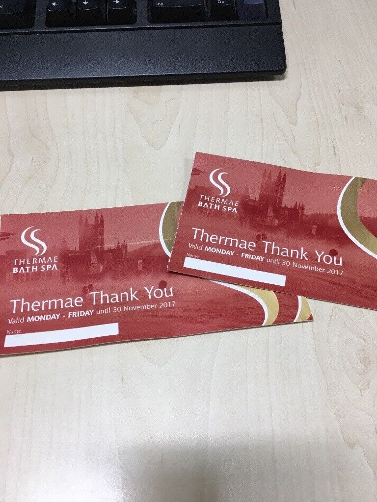 2 tickets for 2 hour spa session at bath spa