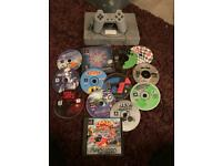 Sony ps1 console bundle with games